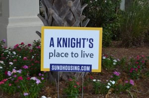 Knights Place to live sign for WEB