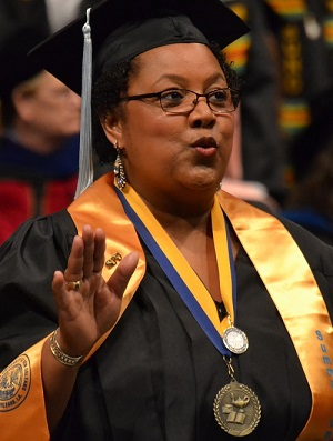 Beverly Jean Woods, Suno's 2015 Top Graduate