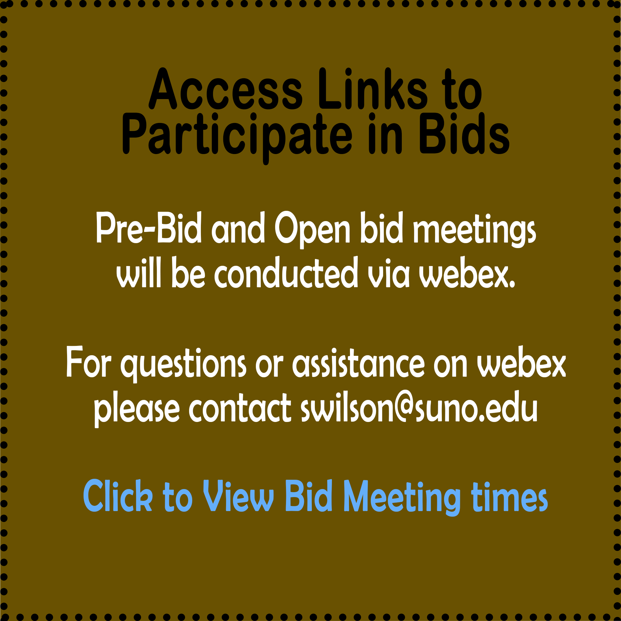 Access links to Participate in Bids