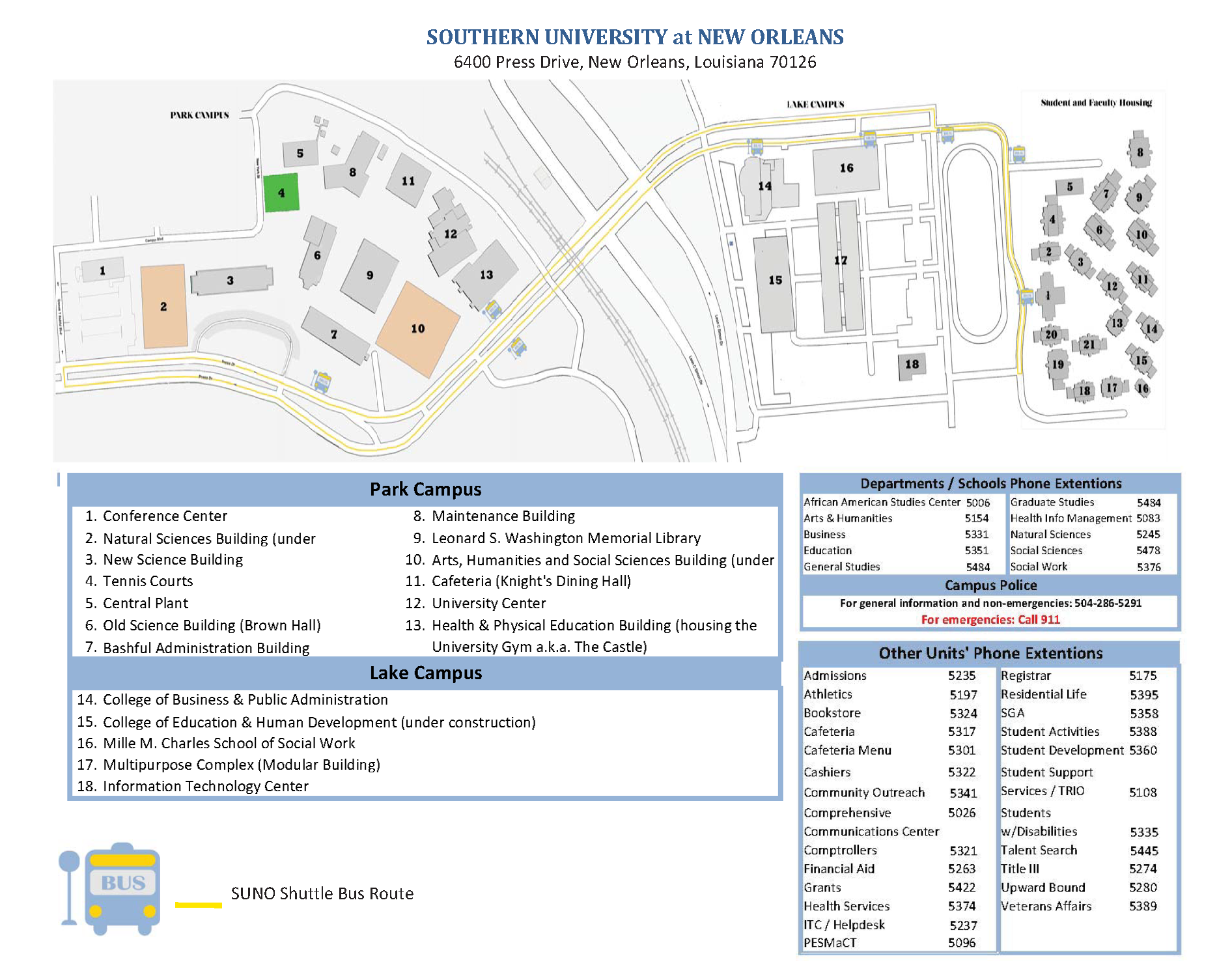 Maps and Directions | Southern University at New Orleans Hotels In New Orleans Map on