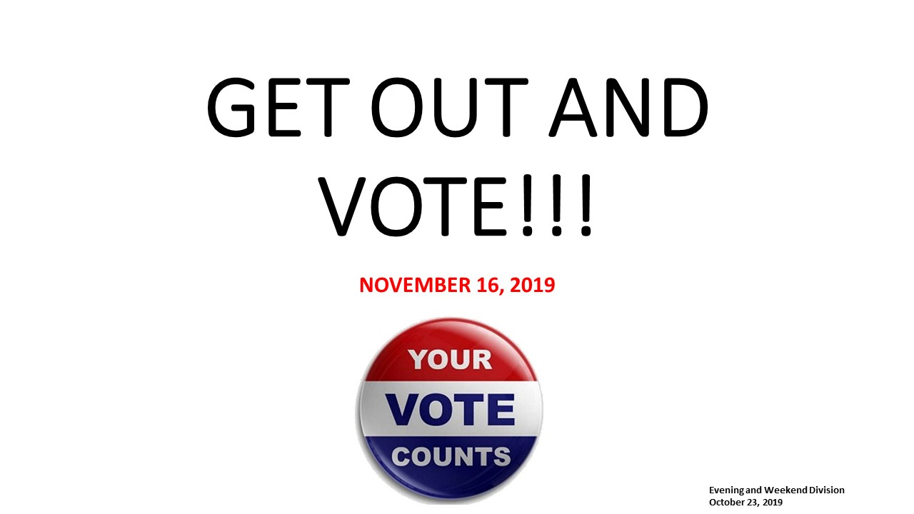 Get Out and Vote!!